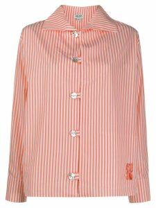 Kenzo pinstriped shirt - ORANGE