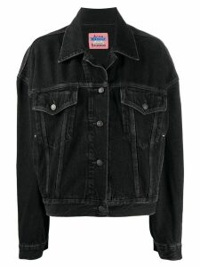 Acne Studios boxy-fit denim jacket - Black