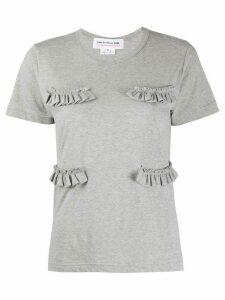 Comme Des Garçons Girl ruffled detail T-shirt - Grey