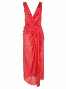 Jason Wu Collection draped midi dress - Red