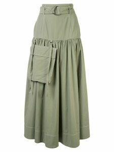 G.V.G.V. high-waist gathered skirt - Green