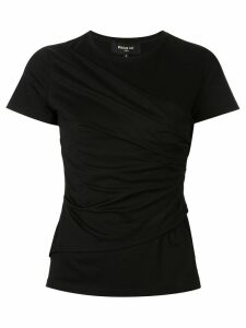Paule Ka draped crew neck T-shirt - Black
