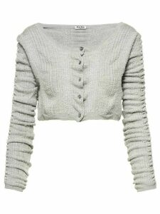 Miu Miu knitted cropped cardigan - Grey