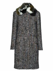 Miu Miu bouclé tweed coat - Grey
