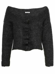 Miu Miu textured cropped cardigan - Black