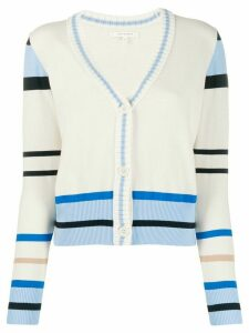 Chinti and Parker striped print cardigan - NEUTRALS