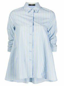 Steffen Schraut striped ruched-sleeves shirt - Blue