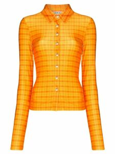 Supriya Lele Madras plaid skinny shirt - ORANGE