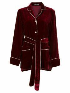 Dolce & Gabbana belted velvet blouse - Red