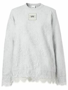 Burberry lace overlay sweatshirt - Grey