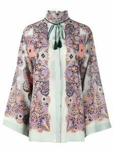 Etro floral print blouse - Grey