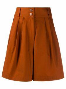 See by Chloé City wide-leg shorts - ORANGE