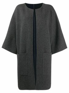 Liska open front cardi-coat - Grey