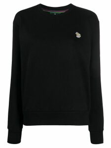 PS Paul Smith embroidered zebra patch jumper - Black