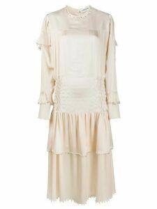 LANVIN bell-embellished smock-effect dress - NEUTRALS