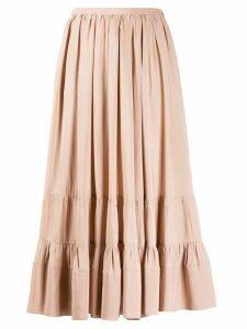 Nº21 Falda pleated midi skirt - NEUTRALS