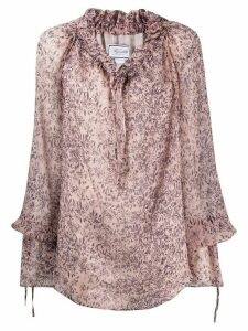 Redemption oversized floral print blouse - PURPLE