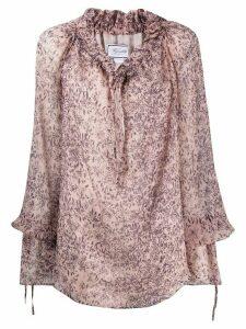 Redemption oversized floral print blouse - PURPLE