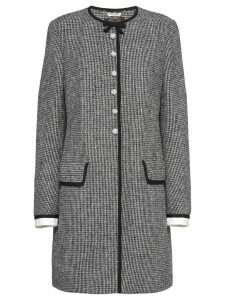 Miu Miu crystal-embellished checkered coat - Black