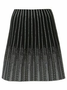 Paule Ka embroidered knit mini stripe - Black
