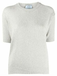 Prada knitted short-sleeve top - GOLD