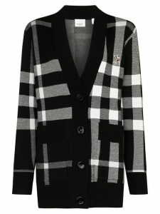 Burberry Oversized Check knit cardigan - Black