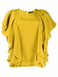 Barbara Bui ruffled top - Yellow