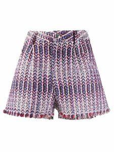 IRO Nonza weave shorts - White