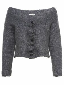 Miu Miu brushed cardigan - Grey