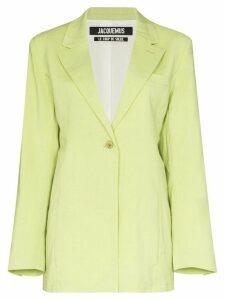 Jacquemus La Veste tablier blazer - Green