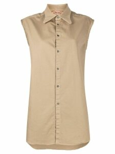 Nº21 sleeveless shirt - Brown