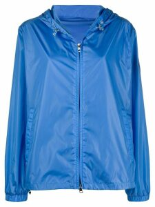 Moncler hooded zip-up jacket - Blue