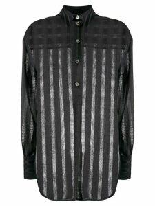 Victoria Victoria Beckham perforated stripes shirt - Blue
