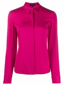 Theory silk long sleeve shirt - PINK