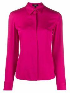 Theory silk long sleeve shirt - PINK