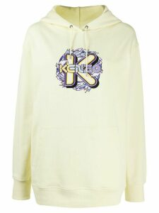 Kenzo K Waves embroidered hoodie - Yellow