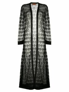 Missoni decorative knit longline cardigan - Black