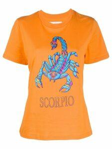 Alberta Ferretti Scorpio print T-shirt - ORANGE