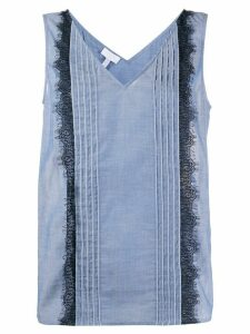 Escada Sport sleeveless lace-trimmed blouse - Blue