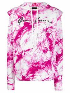 Versace tie-dye print hoodie - White