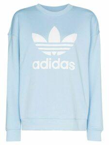 adidas logo-print sweatshirt - Blue