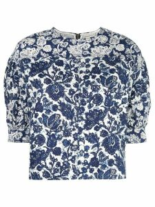 Ulla Johnson oversized floral blouse - Blue