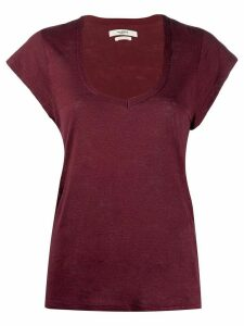 Isabel Marant Étoile short-sleeve fitted T-shirt - Red