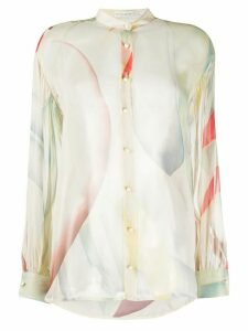 Etro silk abstract print blouse - NEUTRALS