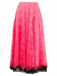 Christopher Kane lace pleated skirt - PINK