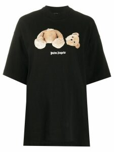 Palm Angels Bear print oversized T-shirt - Black
