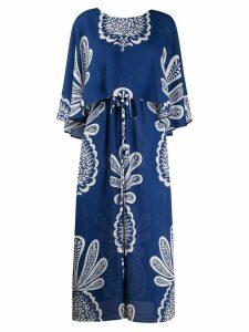La Doublej Bain Douche pineapple print dress - Blue