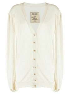 Uma Wang knitted exposed-arm cardigan - NEUTRALS