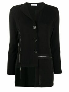 stagni 47 asymmetric buttoned cardigan - Black