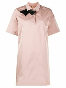 Nº21 bow-tie polo dress - PINK
